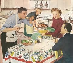dinner party retro