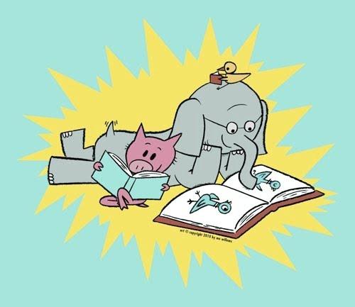 elephant piggie reading
