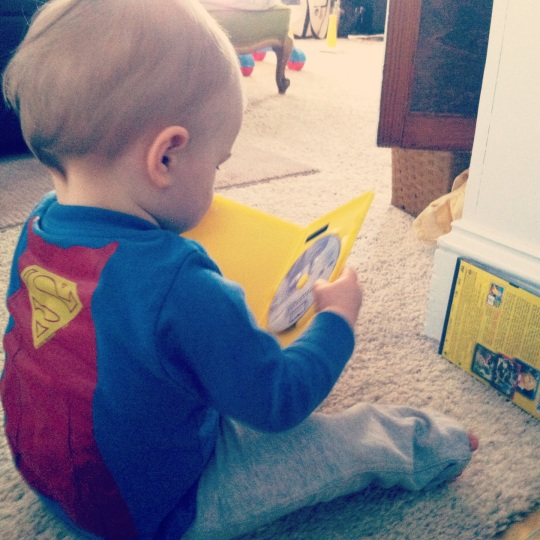 Meanwhile, in his Fortress of Solitude...