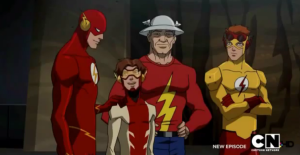 Four generations of The Flash