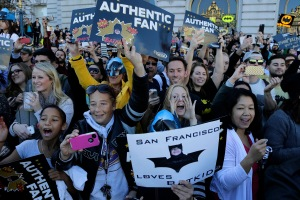 Crowds cheer for BatKid