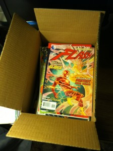 Some comics getting packed up for Operation Gratitude.