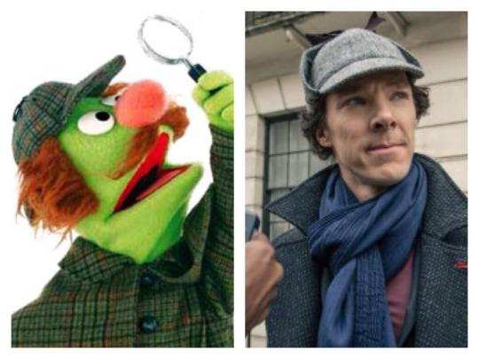 Sherlock Hemlock and Benedict Cumberbatch's Sherlock Holmes. Too good a team to come true?