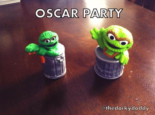 This is what a real Oscar Party looks like.
