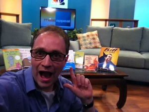 Having way too much fun before going on-air.