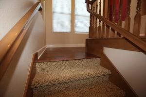 Carpted steps
