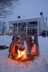 Hot wassail from a cauldron. (Courtesy of The Farmer's Museum)