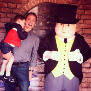 You know, just chillin' with my buddy, Sir Topham Hatt.