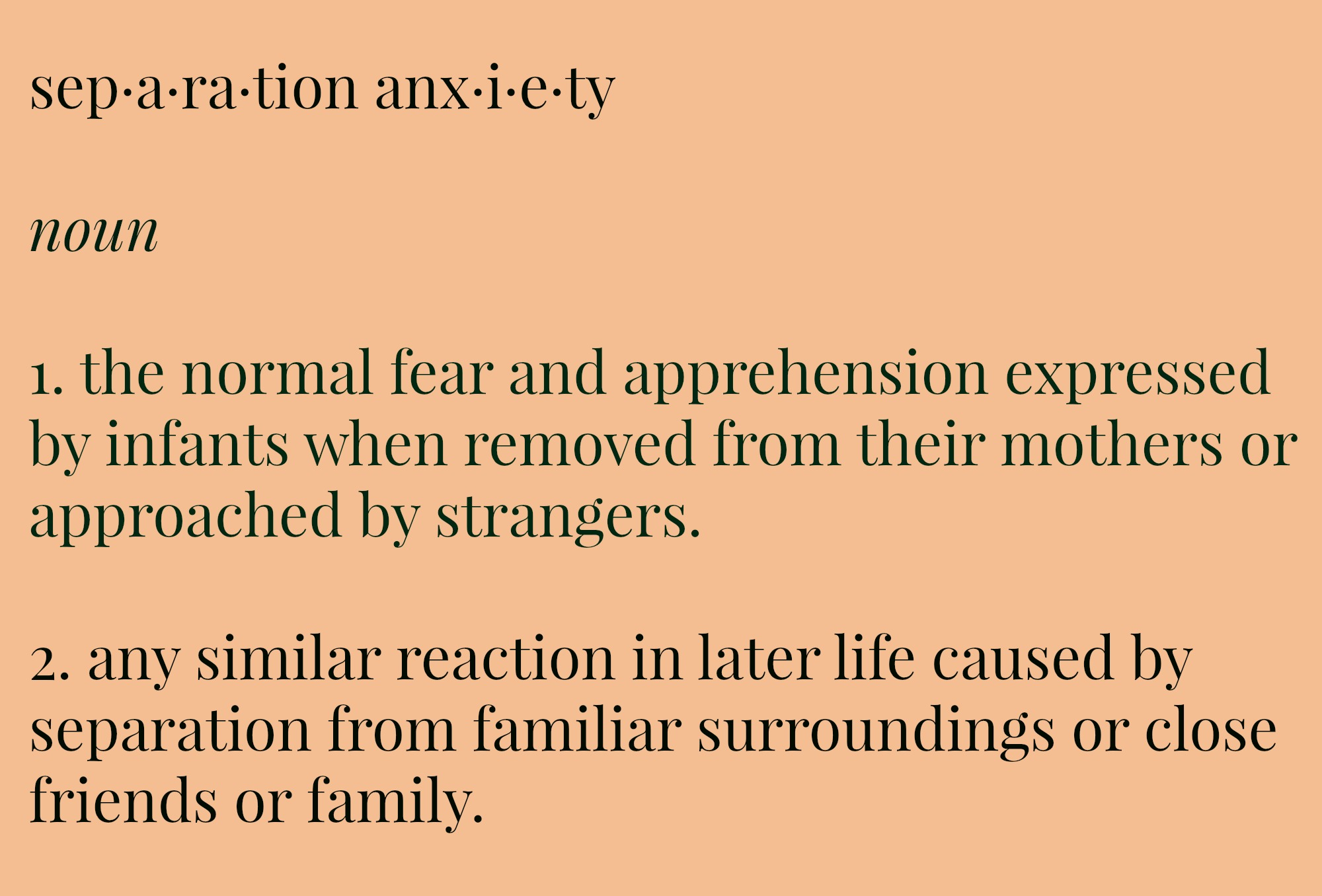 separation anxiety Separation anxiety disorder (sad) is the most commonly diagnosed and impairing childhood anxiety disorder, accounting for approximately 50% of the.