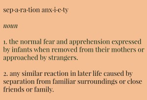 separation anxiety definition