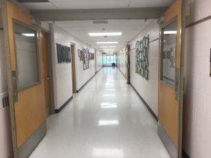 hallway at school