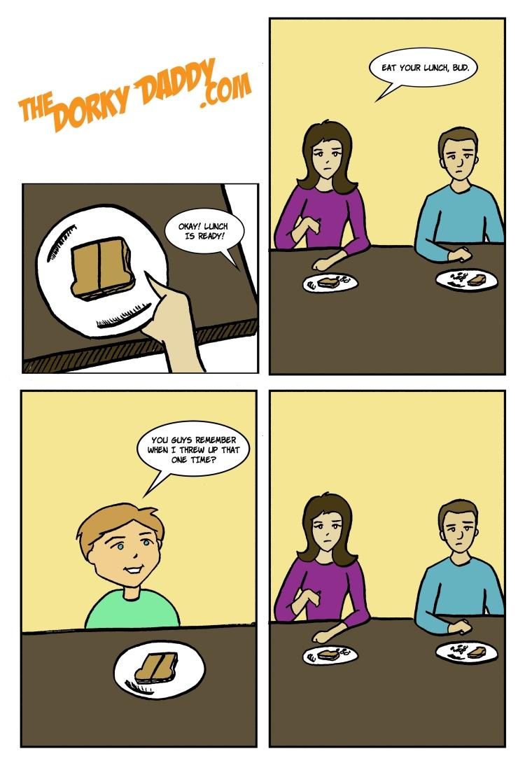 Dorky Daddy Comic - Lunch