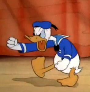 Donald Duck tantrum
