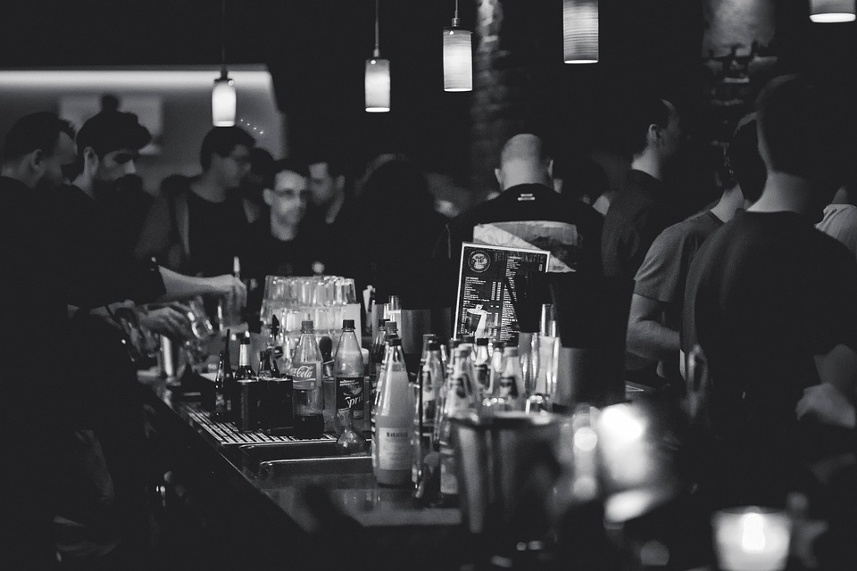 Bar Busy with people