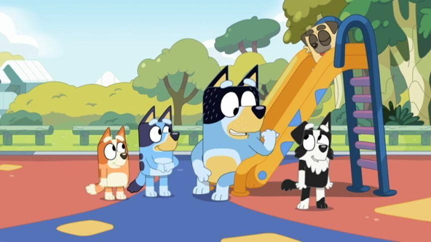 Bluey on the playground